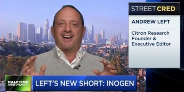 'The stock market has sucked on nitrous oxide' - Wall Street's most feared short seller just called out a new company, taking a big bite out of its stock