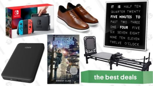 Thursday's Best Deals: Nintendo Switch Bundle, Unique Clock, Pilates Machine, Ebooks, and More