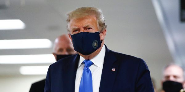Trump just wore a mask in public for the first time since the coronavirus pandemic began
