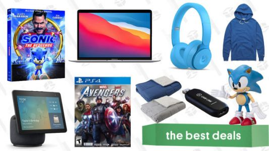 Monday's Best Deals: Apple MacBook Air, Marvel's Avengers, Reversible Weighted Blanket, Echo Show 10, Homage Hoodies, Sonic the Hedgehog Blu-ray, and More