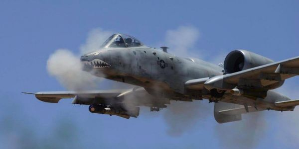 Watch what the A-10 Warthog's fearsome GAU-8 cannon can do to an enemy building