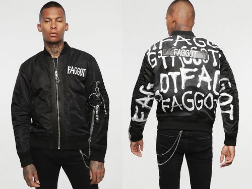 Diesel put a homophobic slur on a jacket to make a statement about 'online hate' and people think it completely missed the mark