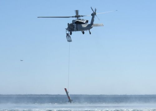 The Navy can now destroy enemy sea mines with helicopter-lowered warheads