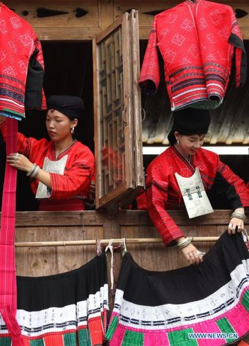 Yao ethnic group celebrate 'drying clothes' festival