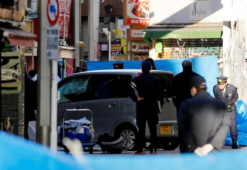 At least 9 people injured after vehicle drives into a crowd of New Year's Eve revelers in Tokyo