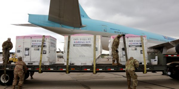 Maryland called in National Guard troops to defend coronavirus tests from South Korea against seizure
