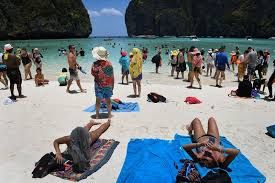 International tourists are now pouring in greater numbers in various holiday hotspots
