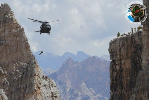 Check out these stunning photos of combat aircraft operating in the Dolomites