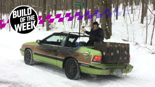 This Movie Tribute Chrysler LeBaron Got Burned to a Crisp for Snow Domination