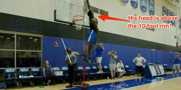 Duke's 285-pound, top-ranked freshman is doing jumps that shouldn't be possible