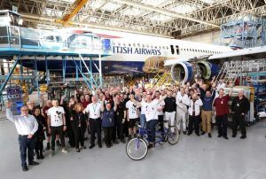 A-Hoy There; Sir Chris's Pedal Power Boosts British Airways Flying Start Campaign