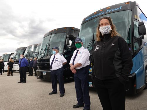 Hundreds of out-of-work bus drivers are descending upon Washington, D.C. to demand a bailout