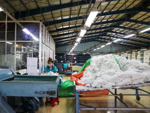 Trump's trade war convinced Lovesac to move manufacturing out of China and into Vietnam. Take a look inside one factory that's trying to cash in on the shift