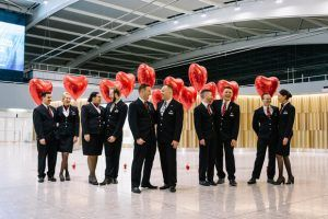 British Airways Valentine's Flight Takes Off
