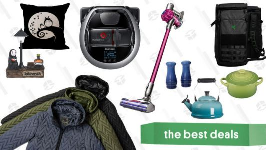 Saturday's Best Deals: Le Creuset Stoneware and Cast Iron, Razer Tactical Laptop Backpacks, Dyson V6 Cordless Vacuum, Samsung POWERbot, JACHS NY Fall Jackets, Studio Ghibli Home Goods, and More