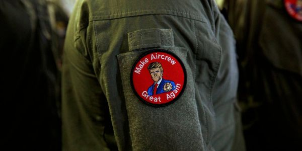 The Navy is punishing sailors for wearing patches with 'Make Aircrew Great Again' on them at a Trump speech
