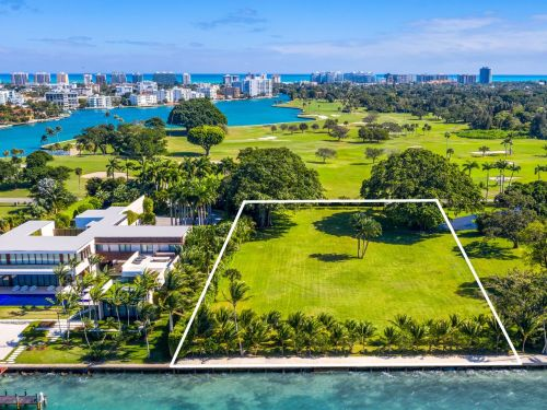An empty lot on Miami's 'Billionaire Bunker' is listed for $32 million, and it shows just how valuable land is on the high-security island with its own 13-person police force