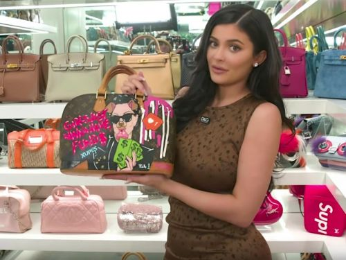 Kylie Jenner gave fans a full tour of her extravagant purse closet - and it includes a Birkin bag she'll give to Stormi when she's ready