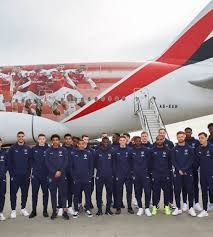 Arsenal Enroute to Dubai on Emirates Special Livery for Friendly Match with Al Nasr Sports Club