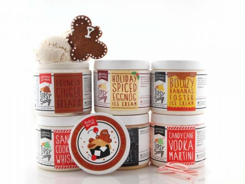 You can get a pack of 6 different boozy holiday ice creams delivered right to your front door