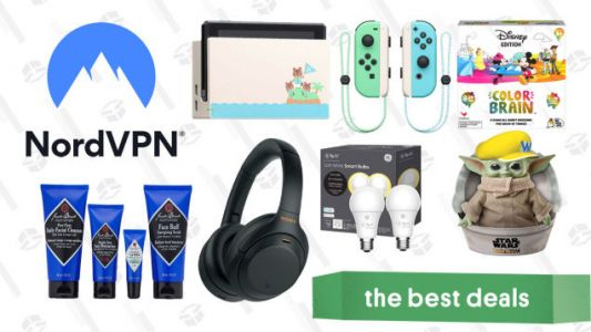 Thursday's Best Deals: NordVPN, Baby Yoda Plush, GE Smart Bulbs, Animal Crossing Switch Console, Sony Noise Canceling Headphones, and More
