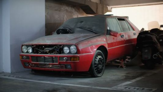 Here's a Lancia Delta Integrale Parts Car Just Sitting in a Garage in Hong Kong