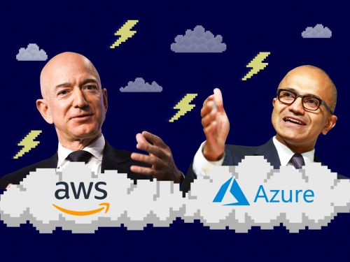 Microsoft's cloud crew is ready to rumble but Amazon is squaring off with Trump