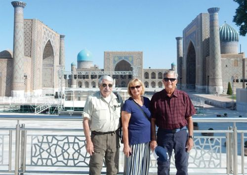 Club Members on the Road in Uzbekistan