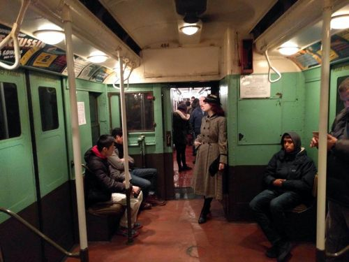 New York City's secret subway line with antique cars is back in service - here's what it's like to ride it