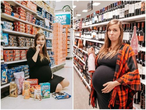A woman took hilarious maternity photos at Target and Trader Joe's, and moms everywhere can relate