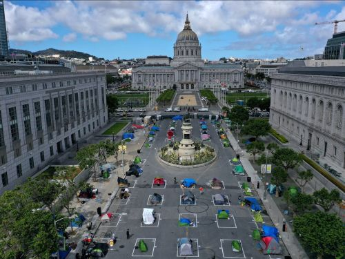 Photos show how San Francisco is housing its homeless in socially distant tent camps