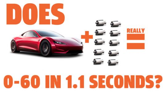 We Did Some Math On The Tesla Roadster's Claimed 1.1 Second 0-60 Time