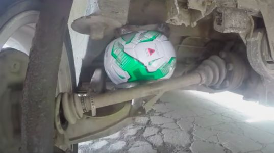 Yes, You Can Use a Soccer Ball as an Air Suspension but It's a Dumb Idea