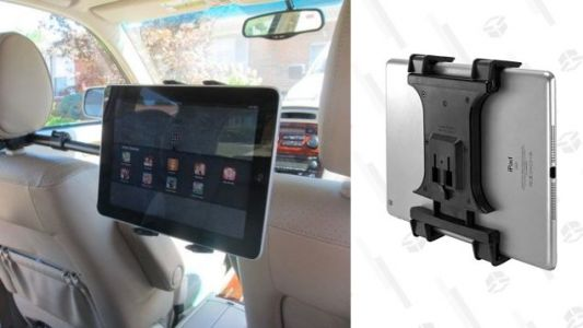Keep Your Back Seat Passengers Entertained With This Headrest Tablet Mount