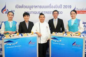 """Bangkok Airways introduces new in-flight menus for 2019 """"Boutique Street Food"""""""