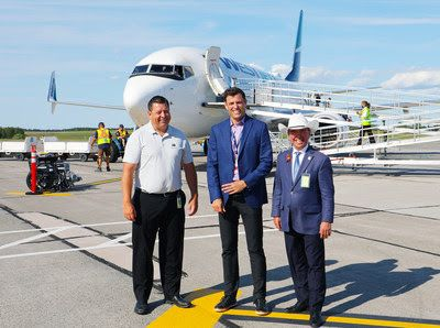 WestJet's first non-stop flight from Calgary to Charlottetown takes off