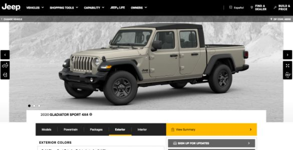 Show Us How You'd Configure a 2020 Jeep Gladiator