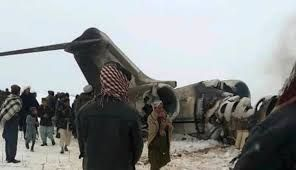 Unknown Afghan plane crashes in Taliban-held area