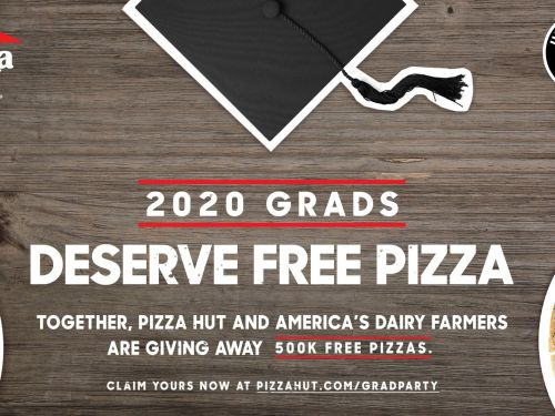Pizza Hut is giving away half a million free pizzas to 2020 high school graduates. Here's how to claim a pie