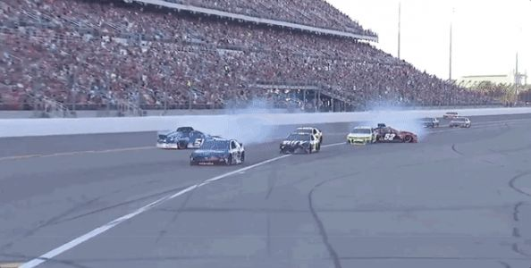 Group of Daytona 500 Contenders Goes Spinning in Chaotic Crash Down Pit Road