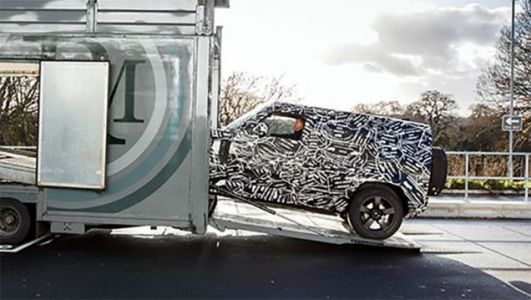 The New Land Rover Defender Looks Just Like a Mercedes G-Wagen From Here